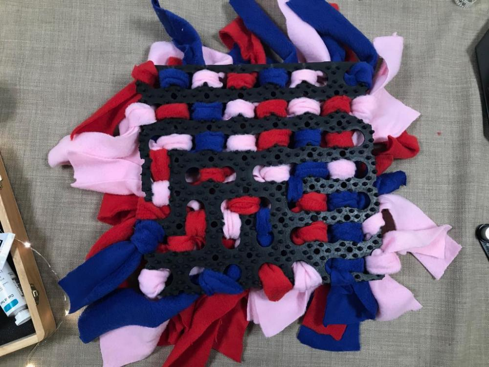 Snuffle mat completed with all gaps filled